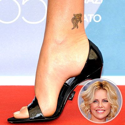 Charlize Theron's fish tattoo would be great on my wrist!