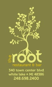 The Root Restaurant & Bar.   We are a locally owned and operated restaurant. The menus are designed around regional, seasonal cuisine showcasing the many resources Michigan and our neighboring areas have to offer.