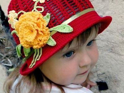 Красивые вязаные крючком шляпы для девочек. Beautiful crochet hats for girls