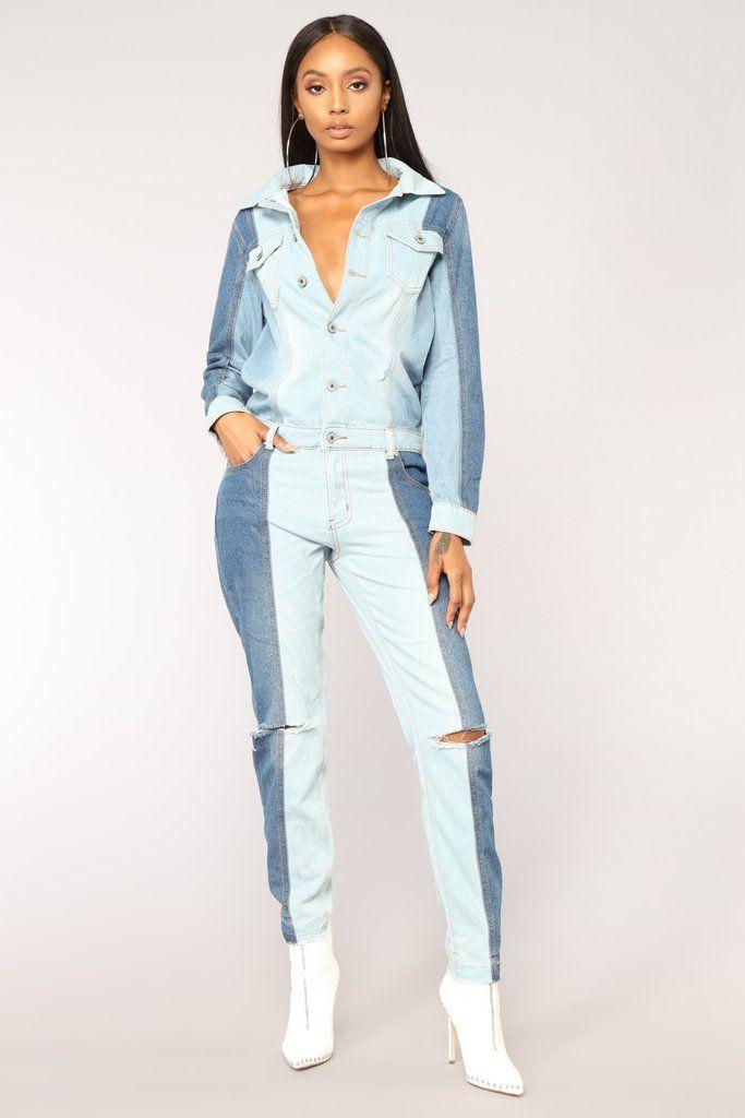 bacbb61104 Compare And Contrast Jumpsuit - Denim in 2019 | Fashion Nova ...
