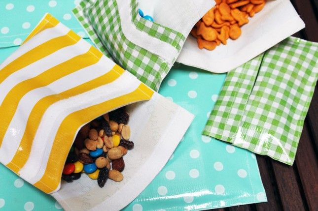 DIY Reusable Snack Bags. Easy and environmentally conscious!