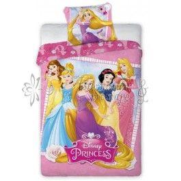 Printesele Disney 001 - Lenjerie de pat din bumbac pentru copii 140x200 cm