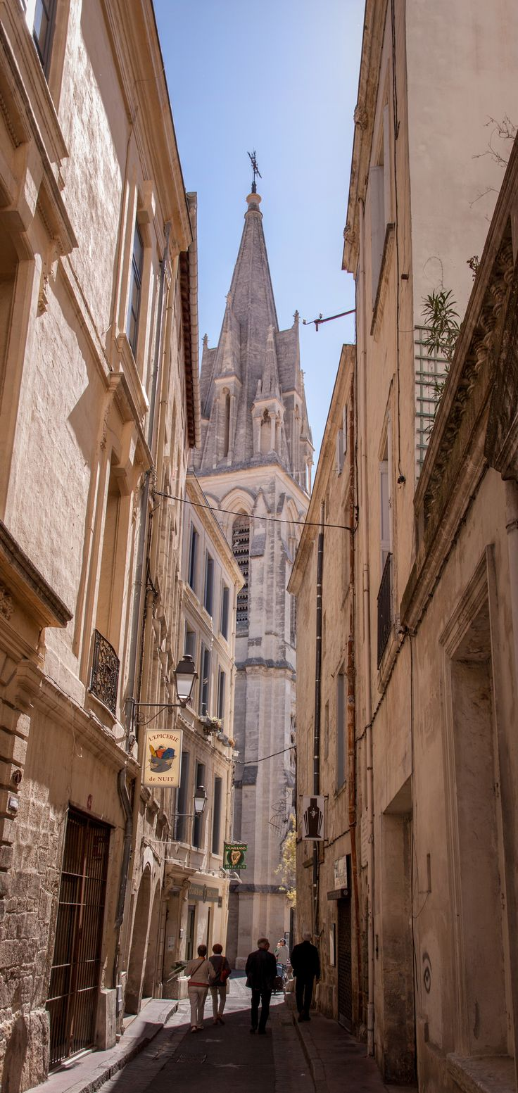 Montpellier, France - the beautiful old French streets
