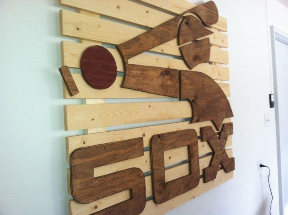 Chicago White Sox wooden flag on Etsy, $250.00