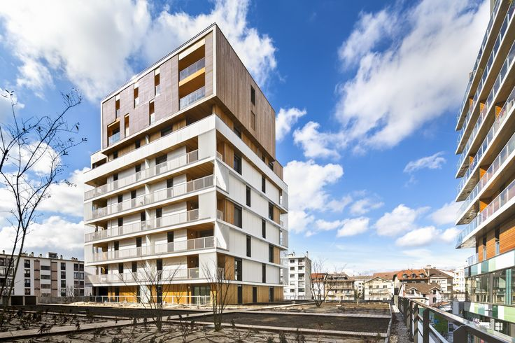Built by Ameller, Dubois & Associés in Annemasse, France with surface 7400.0. Images by Sergio Grazia. Located between the historic center of Annemasse in the French Alps, and its train station, Chablais-Gare district wa...