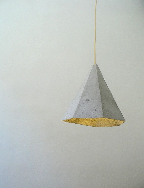 Paper mache lamp Quartz lamp pendant light hanging by CreaReDesign