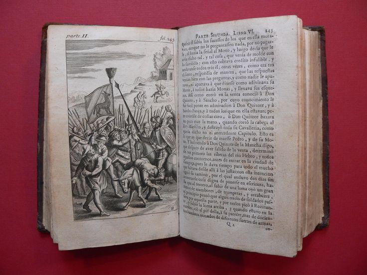 Preciosas ilustraciones de la edición más antigua del Quijote que conserva la biblioteca personal de José María Rodríguez-Acosta en la Fundación Rodríguez-Acosta