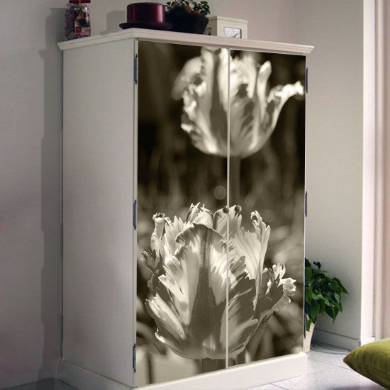 There is something about tulips which is simply irresistible, so why not bring them home by putting this sticker on your armoire?