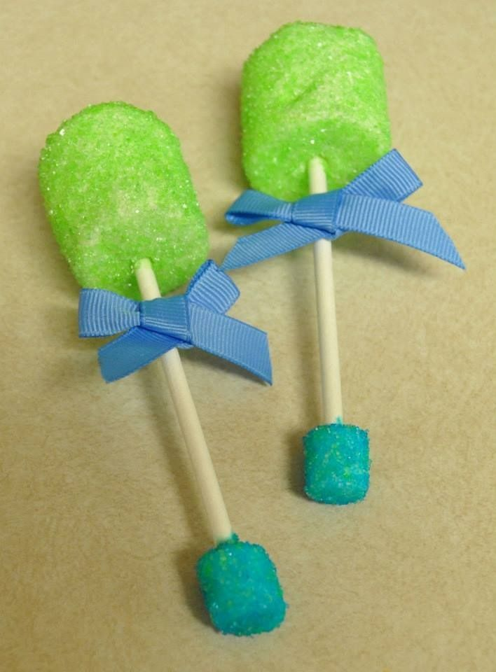 baby rattle marshmallow pops baby shower ideas pinterest