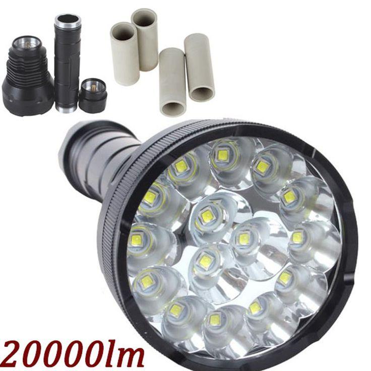 20000 Lumens Powerful LED Flashlight Lanterna led linternas led Torch 15 x CREE XM-T6 LED Waterproof Super Bright LED Flashlight #Affiliate