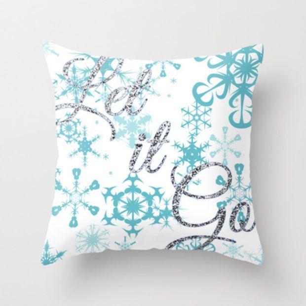 Let it Go - Frozen Throw Pillow by Lauren Ward