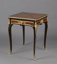 A Gilt-Bronze Mounted Kingwood and Parquetry Envelope Card Table