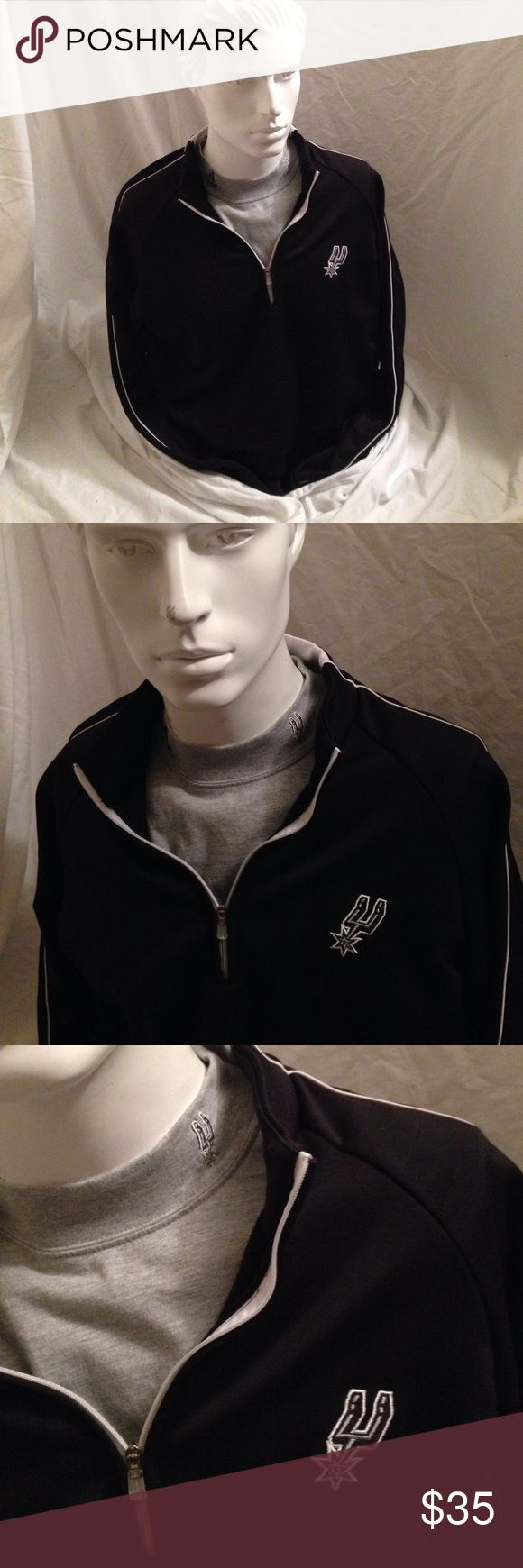 Adidas jacket and long sleeve undershirt 2-1 Both jacket and adidas long sleeve shirt are a matching San Antonio spurs logos on them and are both adidas this set runs at about 150$ it was a gift for me when I went to my first basketball game but I'm not a fan lol sorry guys !! I'm open to offers just make sure you use the offer button please and thank you 😊 adidas Shirts Sweatshirts & Hoodies