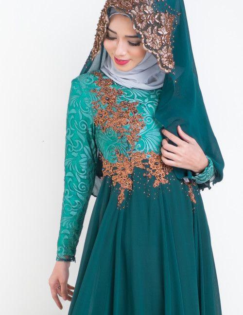Esmeralda Wedding Dress - Emerald Green #muslimwedding #malaywedding