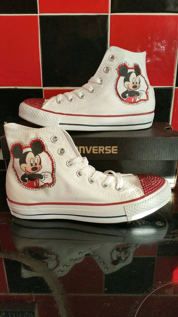 Mickey Mouse Disney Converse All Stars Chuck by danisdifboutique