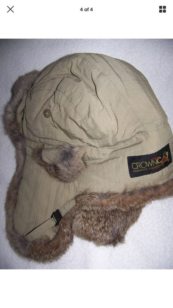 99dfb6981a8 2XL Crown Cap Winter Trapper Flap Hat Chook Sportsman Rabbit Fur Lining XXL   fashion  clothing  shoes  accessories  mensaccessories  hats (ebay link)