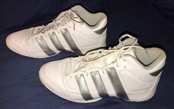 Adidas Commander Lite Tim Duncan Men's Basketball Shoes White & Silver Size 10.5