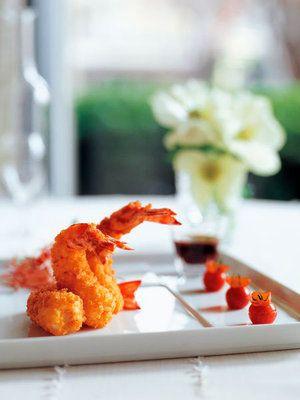【ELLE a table】海老のフリット、プチトマトのマリネ添えレシピ|エル・オンライン