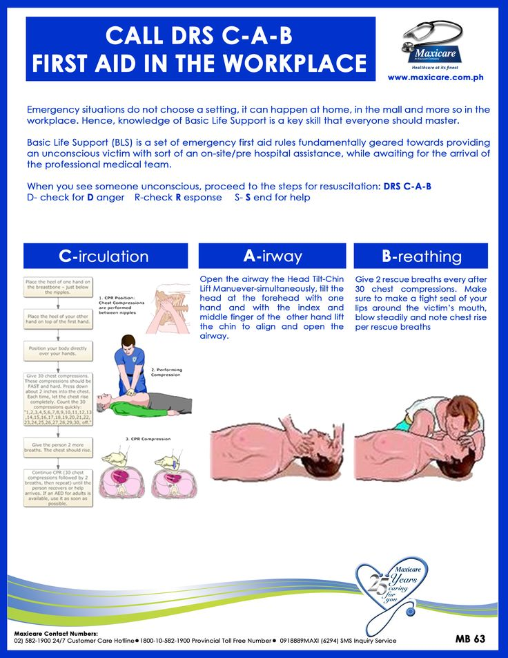 Basic Life Support First Aid in the workplace Philippines