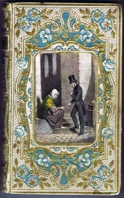 Antique 19thc French Children Book Rose Josephine Gilt Paper Engr Tours  1854