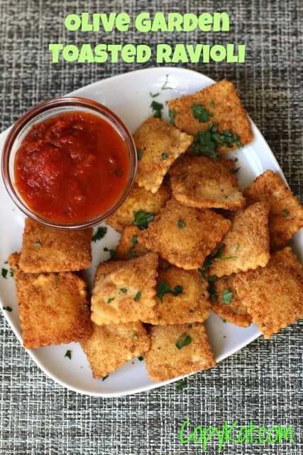 Olive Garden Toasted Ravioli - this copycat recipe tastes just like the restaurant recipe. #copycat this recipe is from CopyKat.com