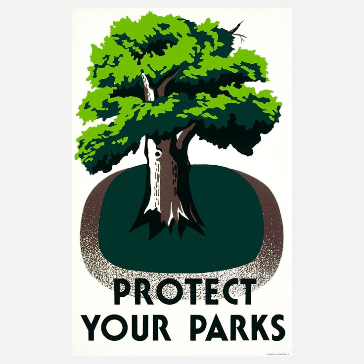 This week is National Park Week - Free admission at all National Parks | Protect Your Parks 17x22 print