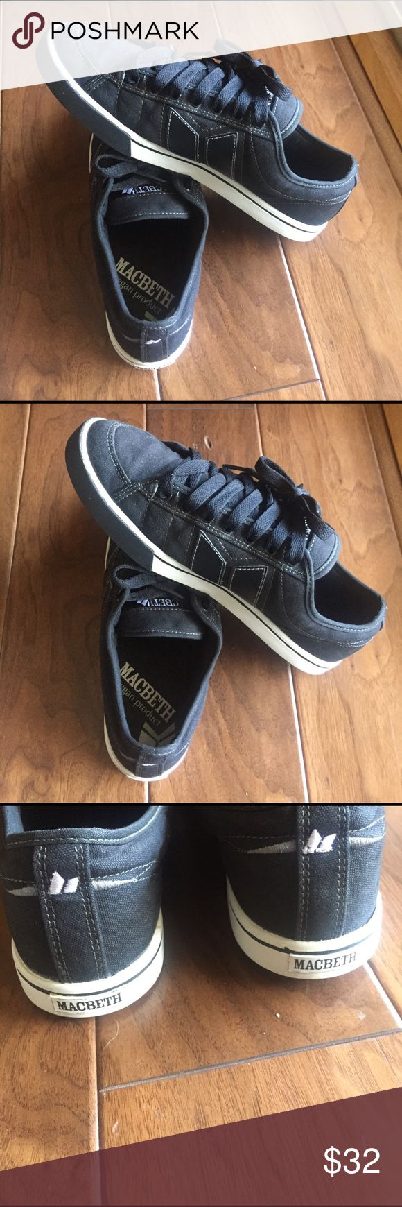 Macbeth men's size 11 shoes Macbeth black shoes. These are vegan shoes. Size 11.                                                                       EUC. Only worn a few times Shoes Sneakers