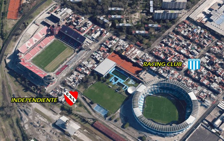 Stadia El Cilindro and Independiente grounds