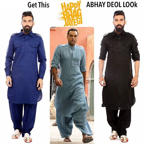 PATHANI SUITS collection - Get This Abhay Deol look of Happy Bhaag Jayegi for…