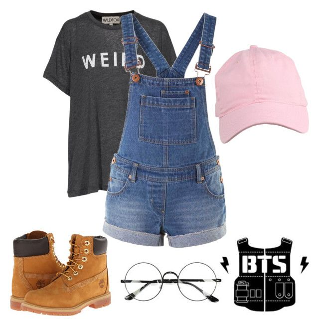BTS - RAP MONSTER - OUTFIT by jessy-693 on Polyvore featuring moda, Wildfox, Timberland and Chicnova Fashion