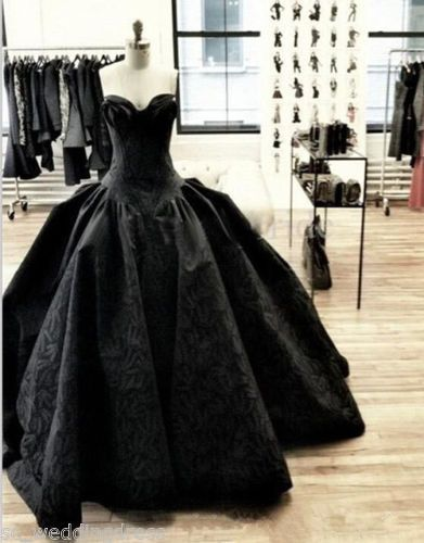 New Black Ball Gown Prom Dress Formal Party Gowns Quinceanera Dresses Custom | eBay