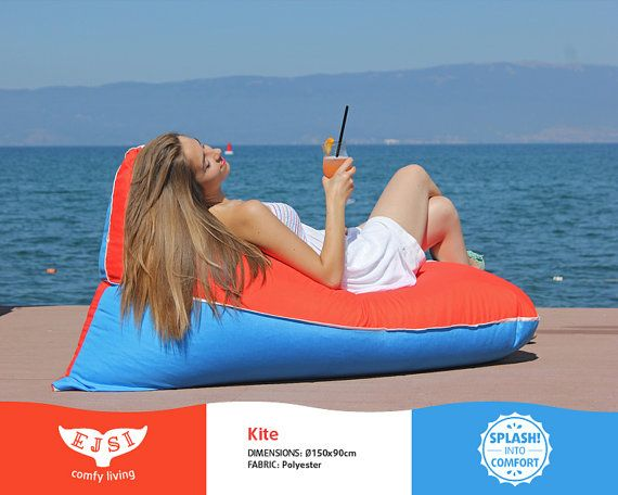 Outdoor lounge chair Teen size waterproof bean bag by EJSIdsgn