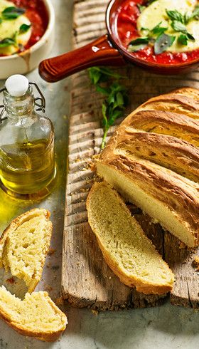 Olive oil bread: This easy loaf has flavour, softness and a good crust, making it perfect for dunking into a baked tomato and mozzarella dip or hearty broths.