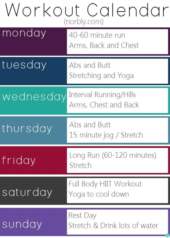 Best 25+ Weekly workout schedule ideas on Pinterest ...