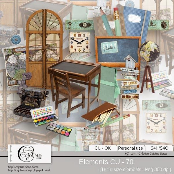 CAJOLINE-SCRAP: Elements CU - 70