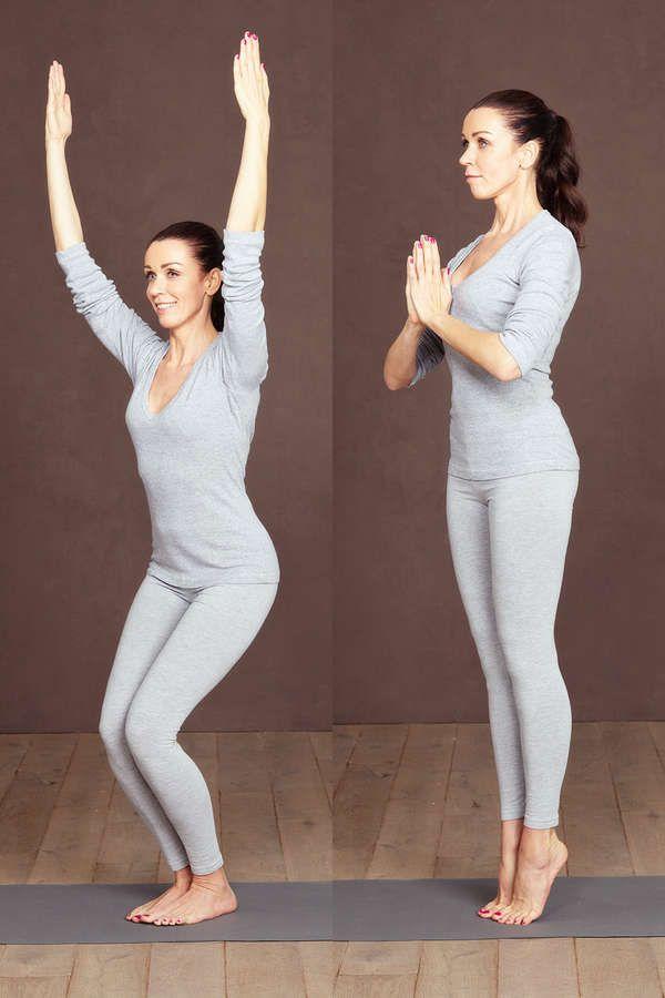Yoga-Figur Stuhl-Flow