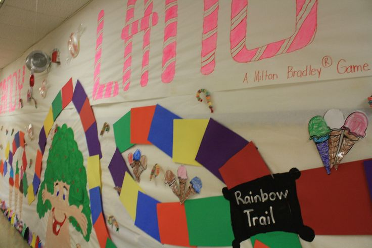 Classroom Decoration Ideas With Paper : Candyland themed classroom life is sweet in