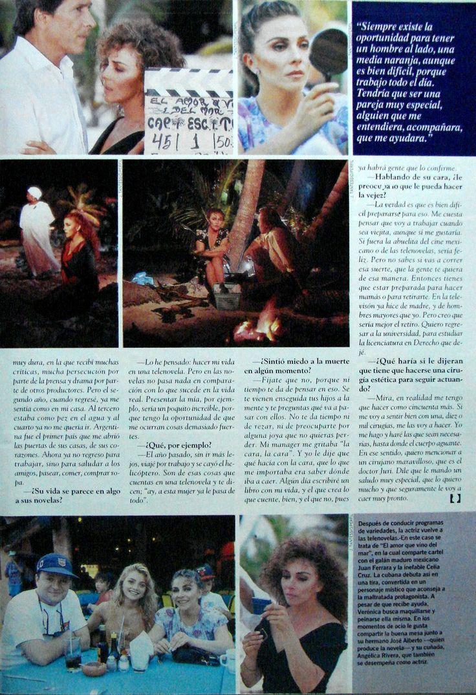 Revista: Caras | Pagina 6 de 6 Nota: Veronica Castro, Una Mujer Apasionada
