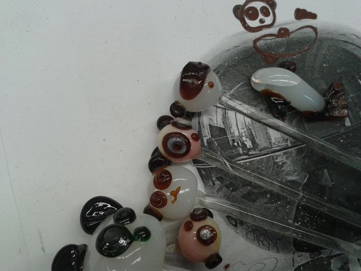 Sea Pandas from glass