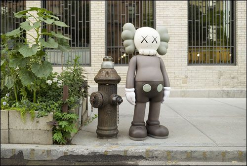 KAWS: to me sculpture is a great way to design freely in a full round form. Kaws' sculptures definitely have strong design.