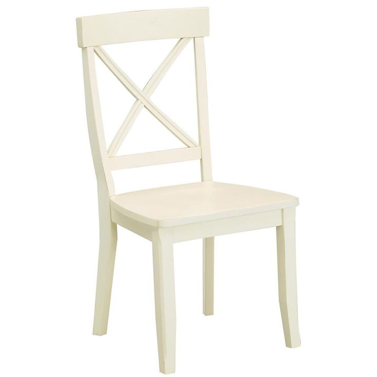 Antique White Finish Dining Chairs (Set Of 2