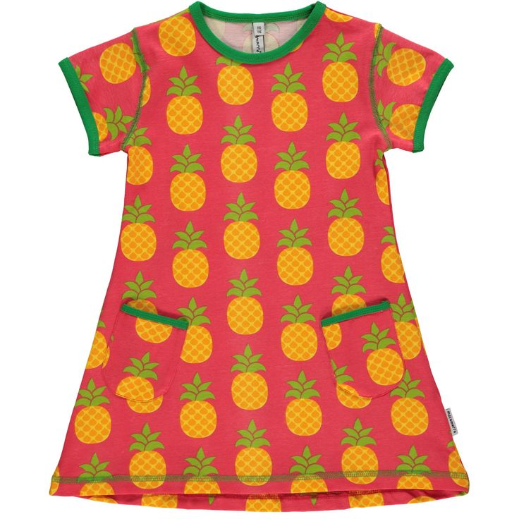 Pineapple short sleeve tunic from Maxomorra, made from 100% Organic Cotton. Sweatshop free ethical and sustainable fashion. From Maxomorra, available at Modern Rascals.