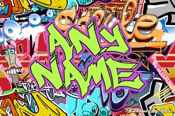 Graffiti Backdrop Graffiti Banner 80 S 90 S Hip Hop Etsy In 2020 Backdrops For Parties Birthday Backdrop Graffiti