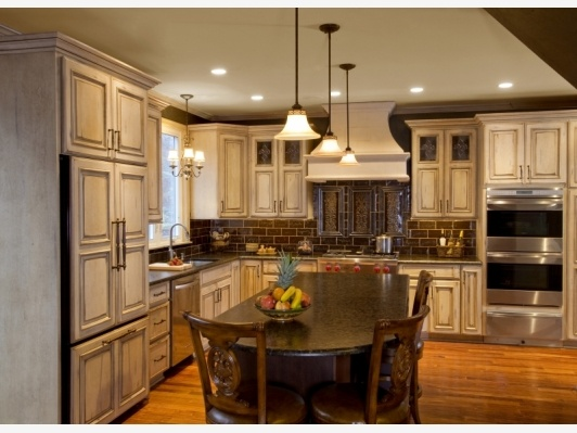 Antique Kitchen Cabinets-Finished Kitchen Island Bucks County - Home and  Garden Design Ideau0027s