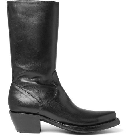 Vetements : Lucchese Cuban-Heel Leather Boots