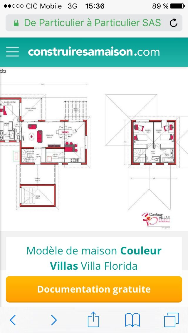 149 best Maisons images by LISE SIMONELLI on Pinterest Home plans - plan de maison plain pied chambres gratuit