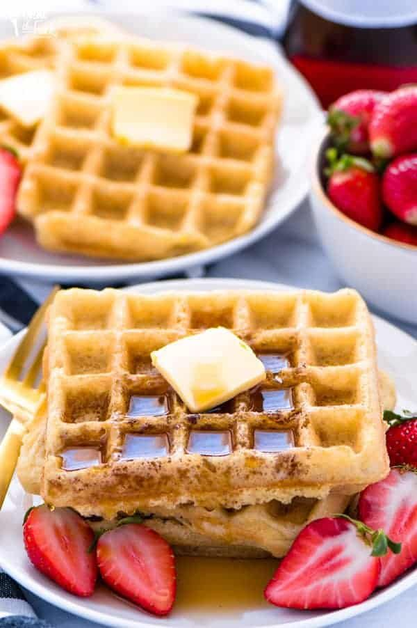 Easy Gluten Free Waffles Recipe (Dairy Free Option)