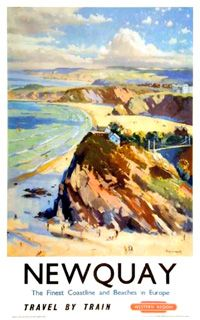 Vintage rail poster for Newquay #lovenewquay #oldnewquay