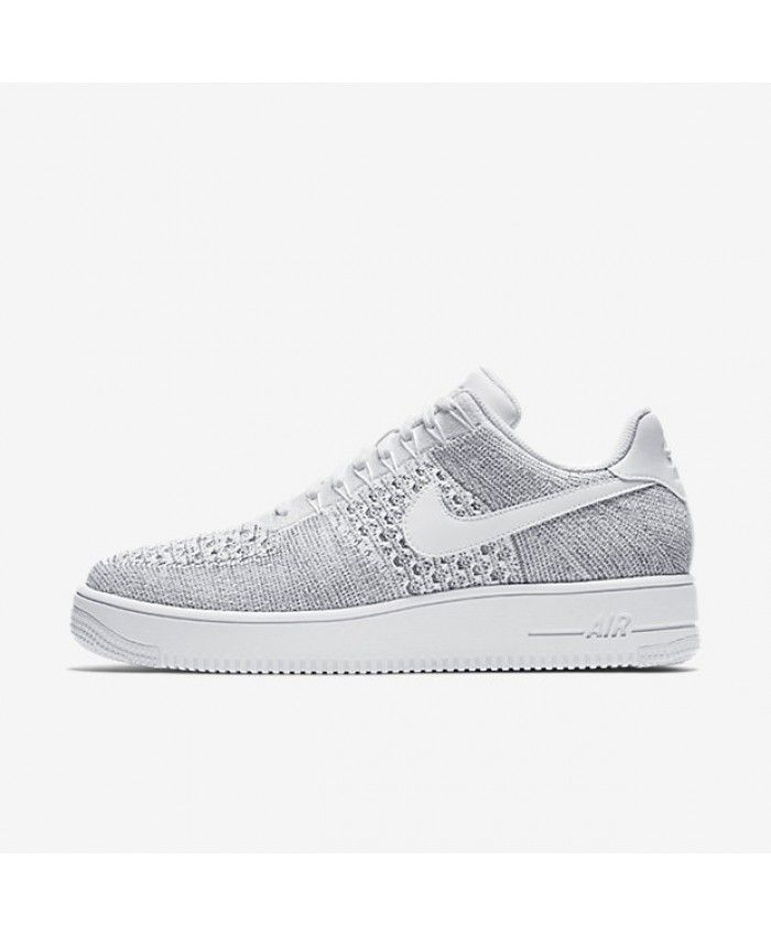 online retailer 5b757 741b5 Men s Nike Air Force 1 Flyknit Low Cool Grey White White