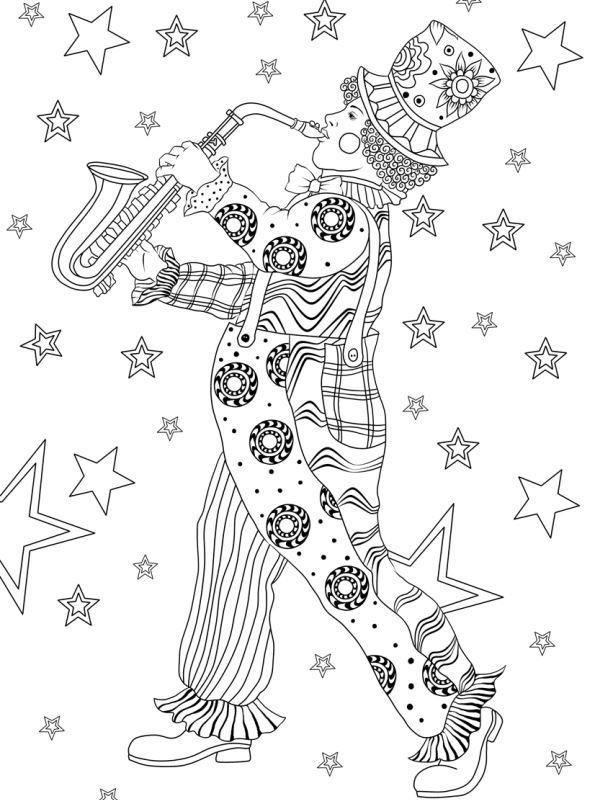 Kids N Fun Com Coloring Page Carnival International Clown Mardi Gras In 2021 Cool Coloring Pages Coloring Pages Mardi Gras
